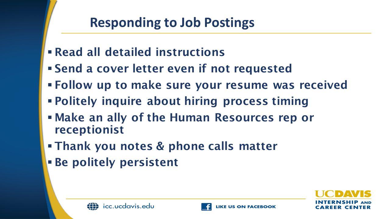Responding to Job Postings