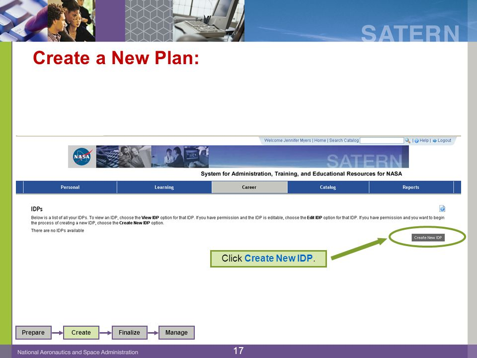 Create a New Plan: Click Create New IDP.