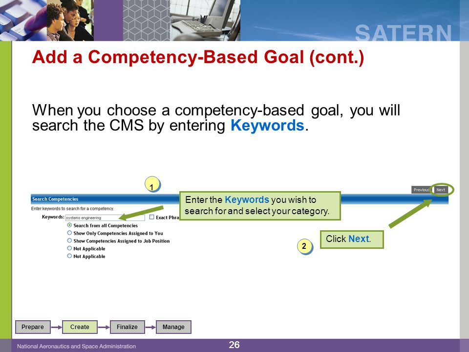 Add a Competency-Based Goal (cont.)