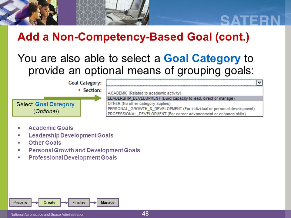 Add a Non-Competency-Based Goal (cont.)