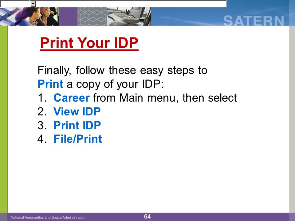 Print Your IDP Finally, follow these easy steps to