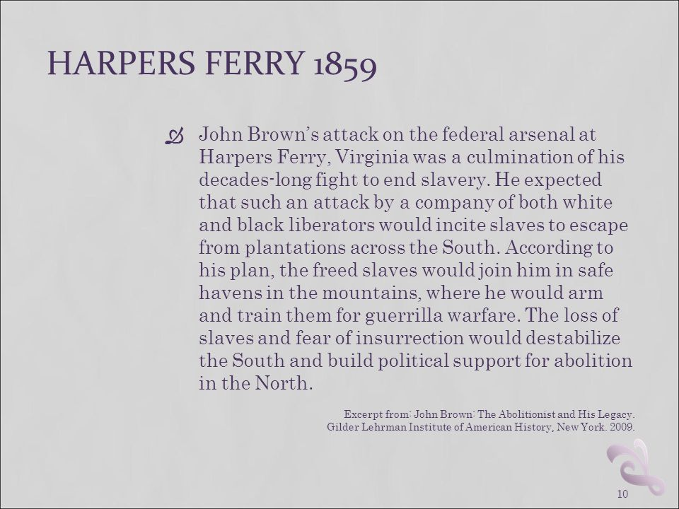 HARPERS FERRY 1859