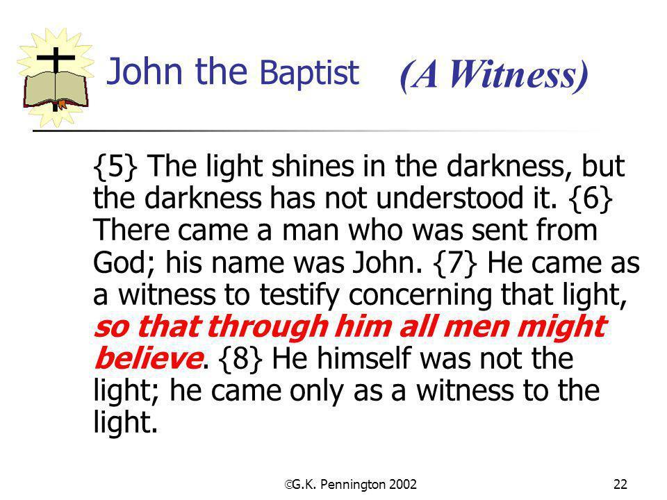 (A Witness) John the Baptist