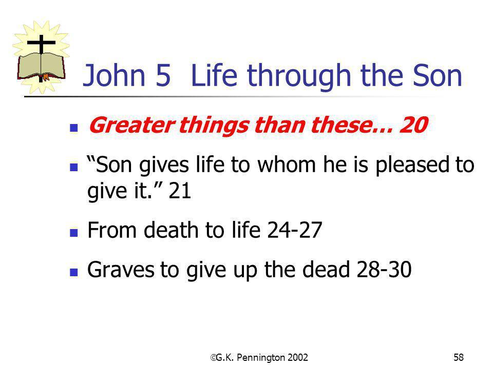 John 5 Life through the Son
