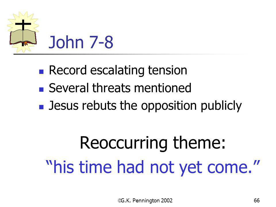 his time had not yet come.