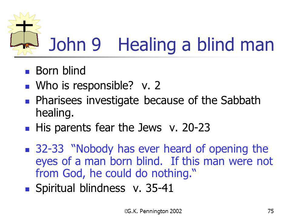 John 9 Healing a blind man