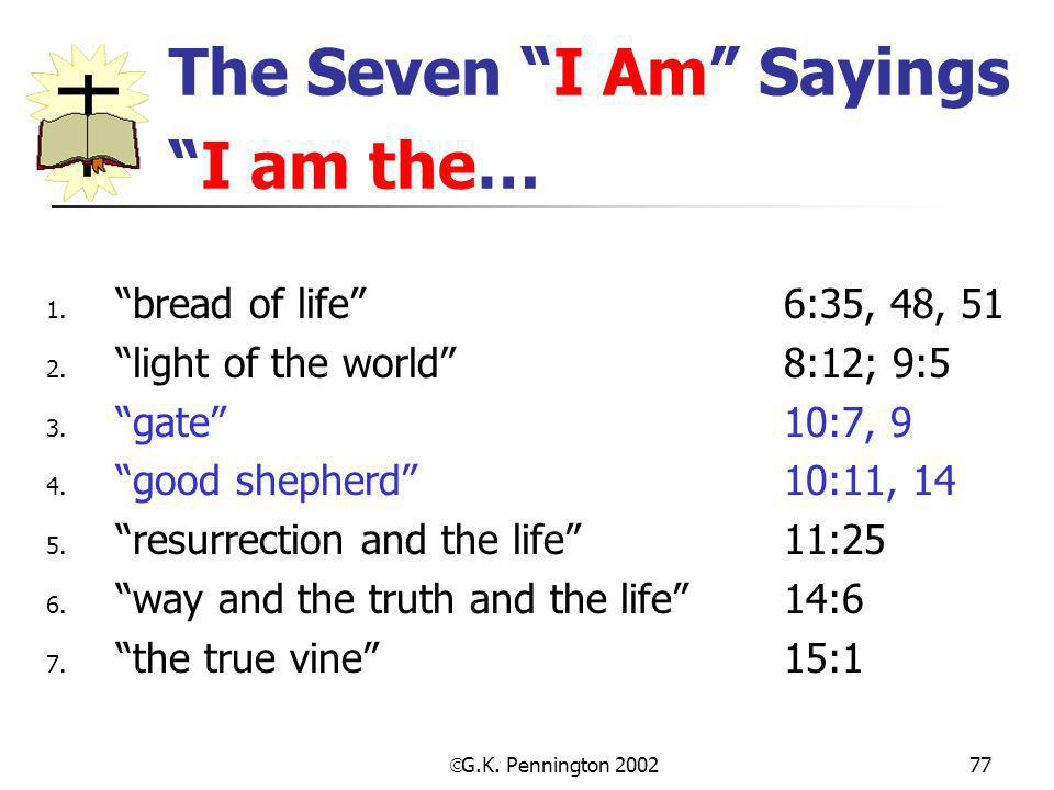 The Seven I Am Sayings I am the…