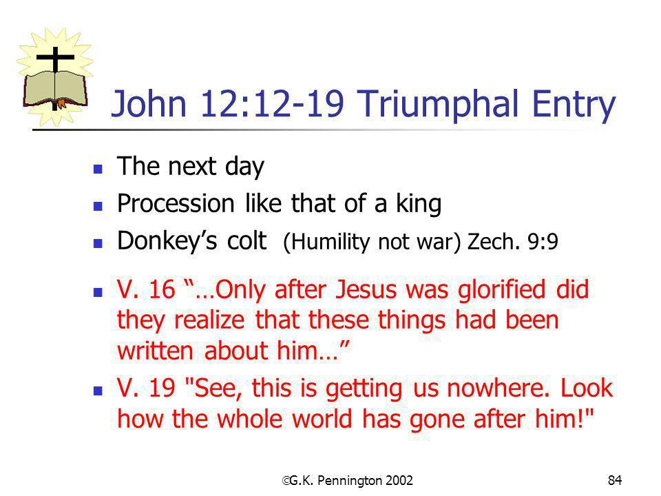 John 12:12-19 Triumphal Entry