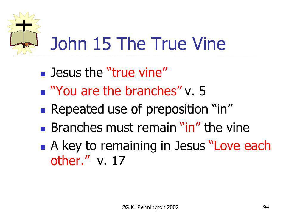 John 15 The True Vine Jesus the true vine