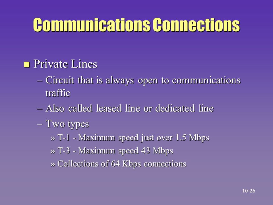 Communications Connections