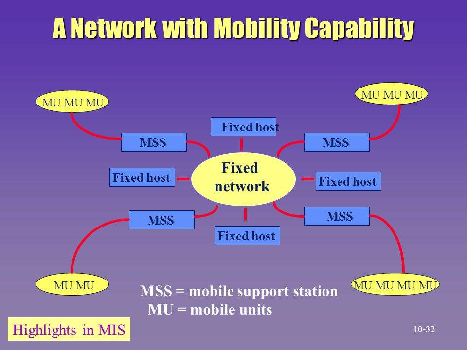 A Network with Mobility Capability