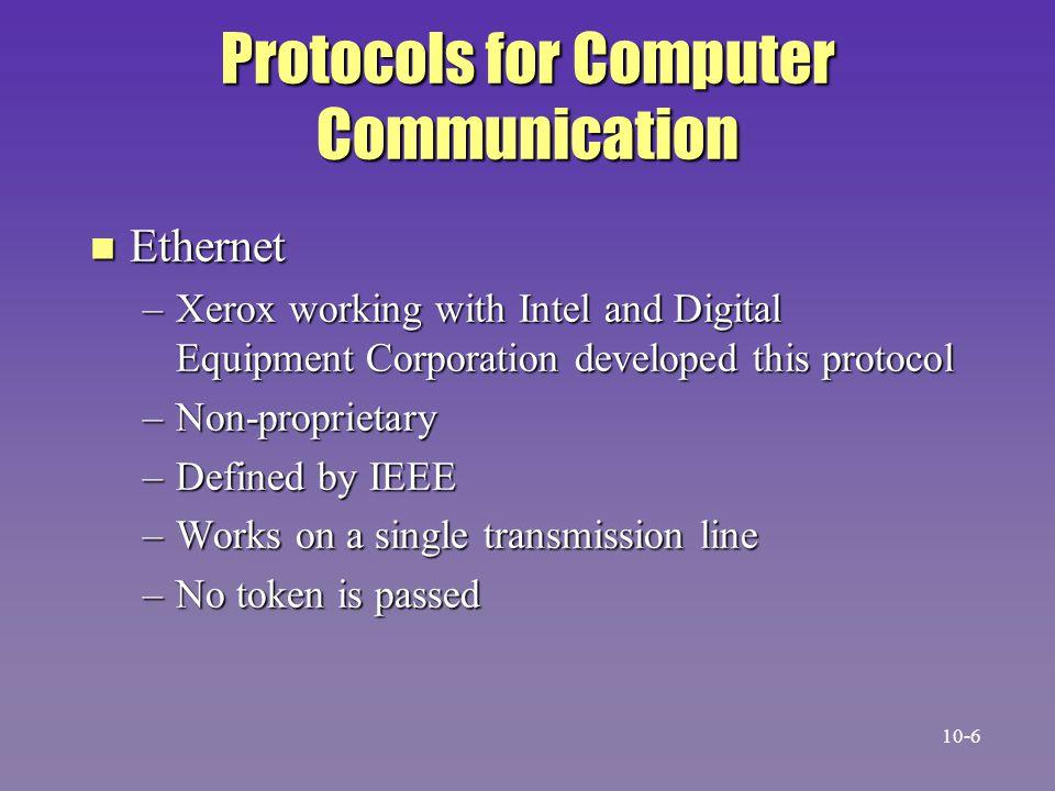 Protocols for Computer Communication