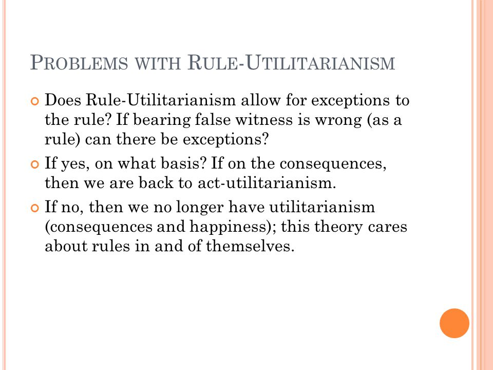 Problems with Rule-Utilitarianism