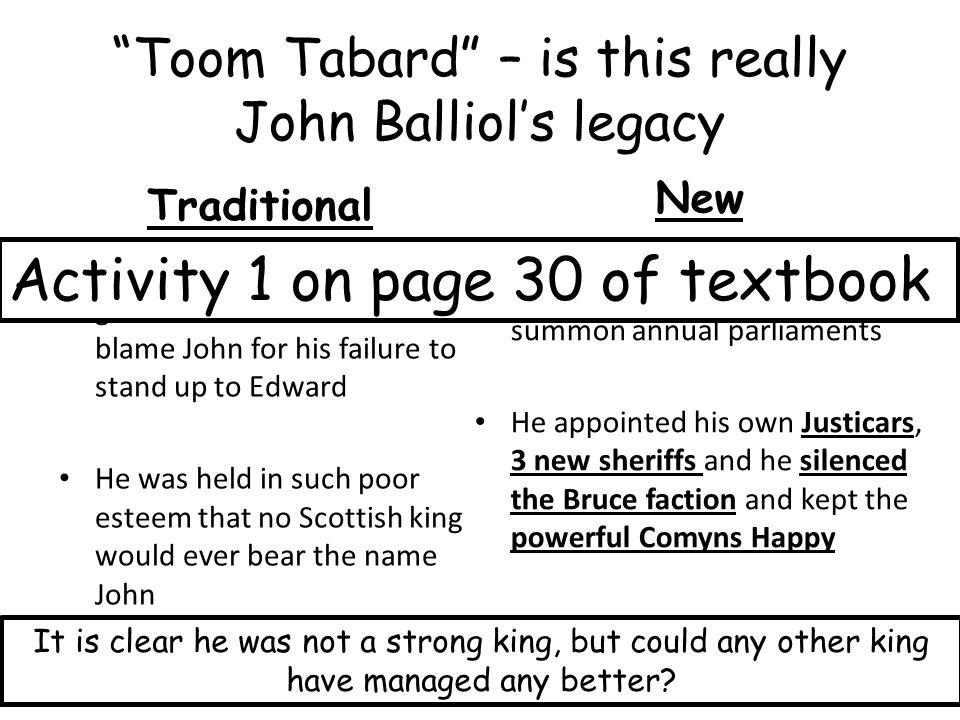 Toom Tabard – is this really John Balliol's legacy