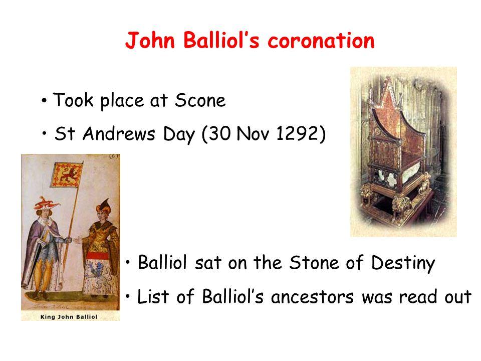 John Balliol's coronation