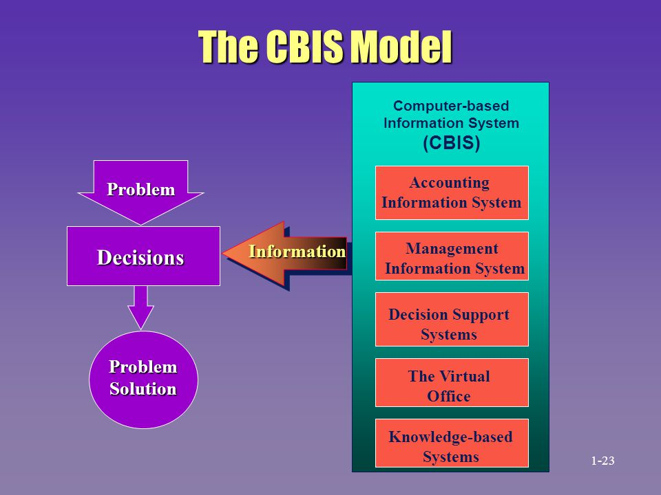 The CBIS Model Decisions (CBIS) Problem Information Problem Solution