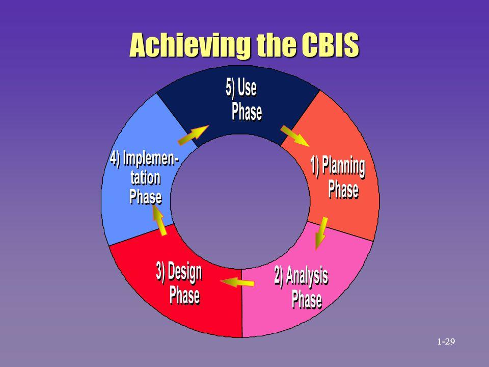 Achieving the CBIS 1-29 31