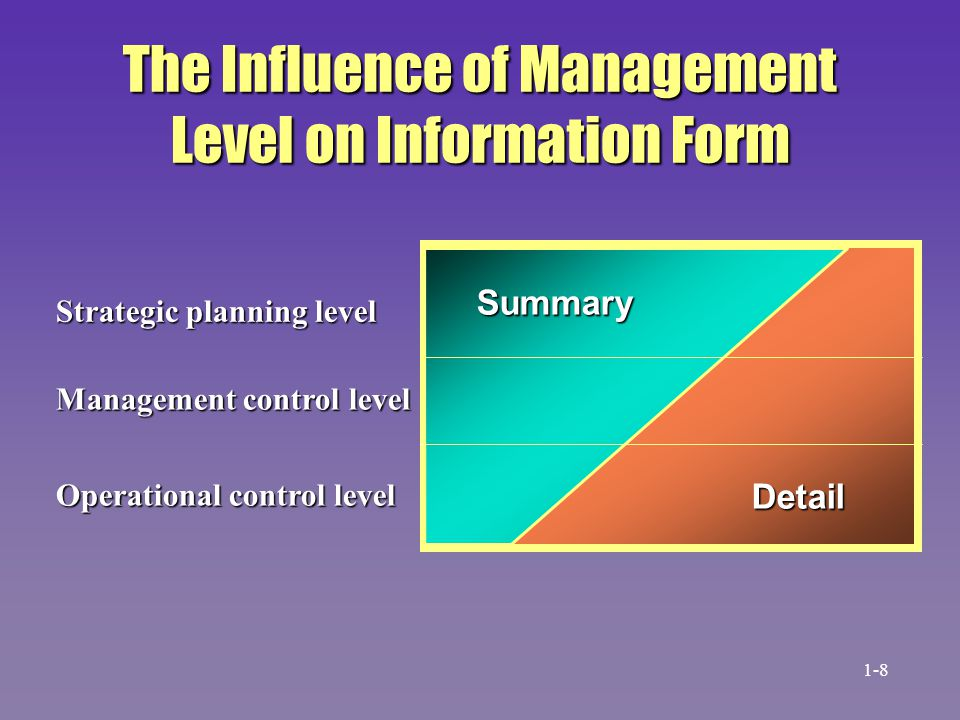 The Influence of Management Level on Information Form