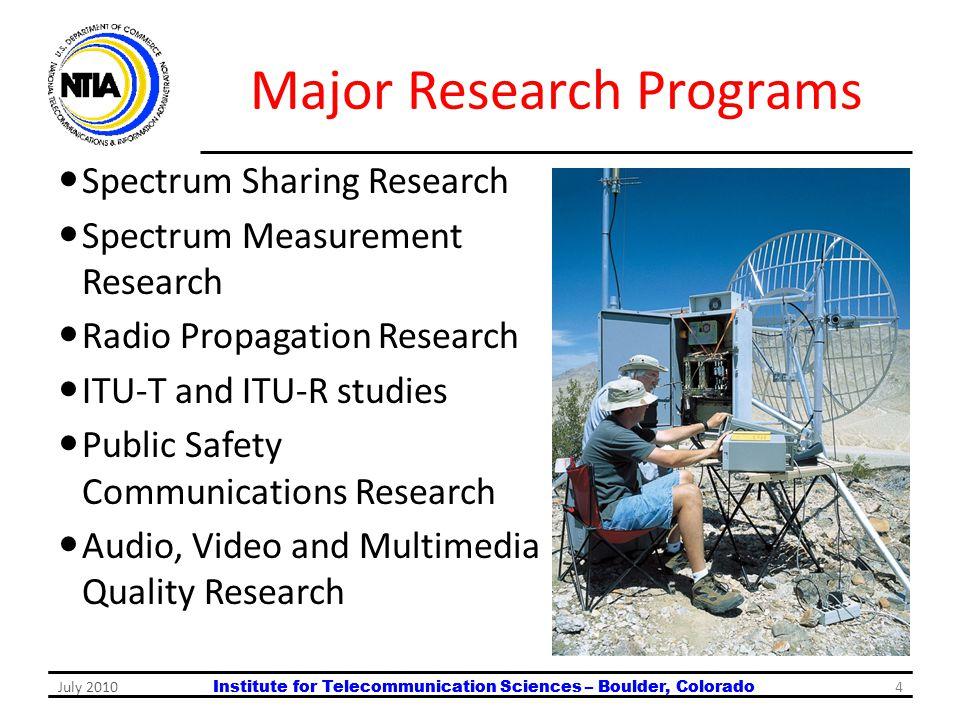 Major Research Programs