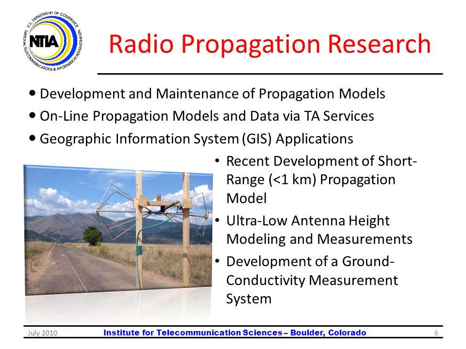 Radio Propagation Research