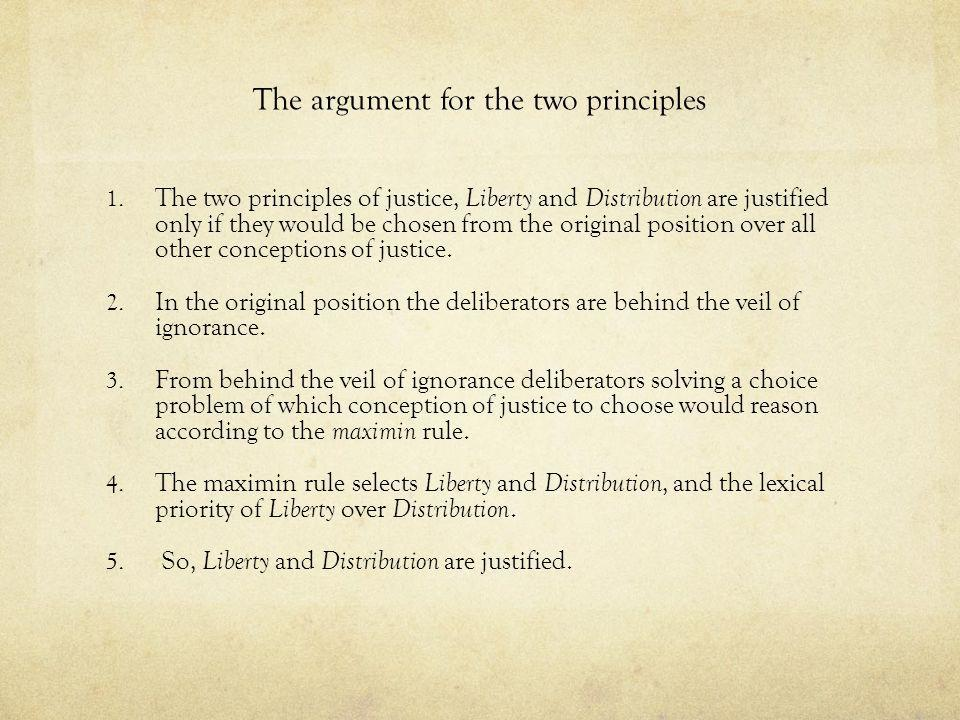 The argument for the two principles