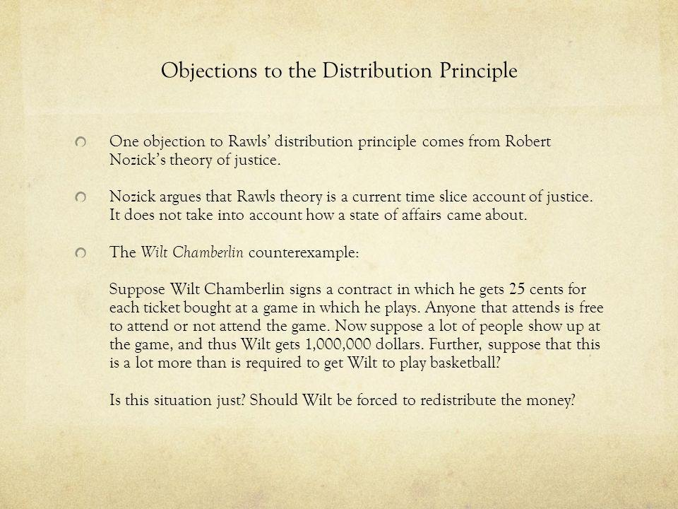 Objections to the Distribution Principle