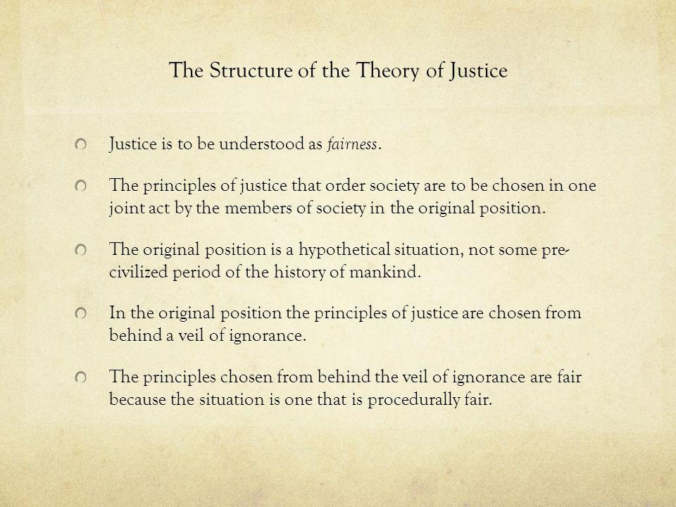 The Structure of the Theory of Justice