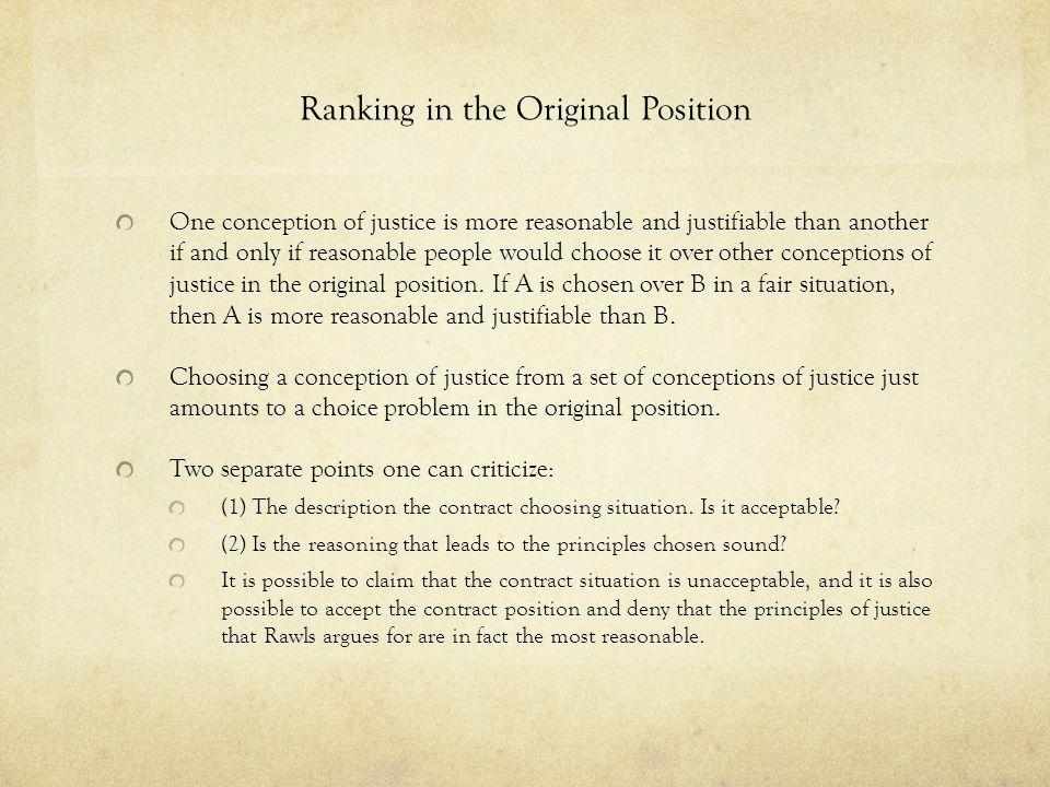 Ranking in the Original Position