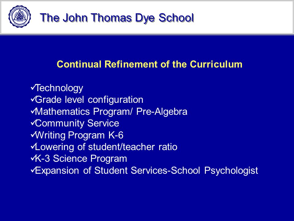 Continual Refinement of the Curriculum