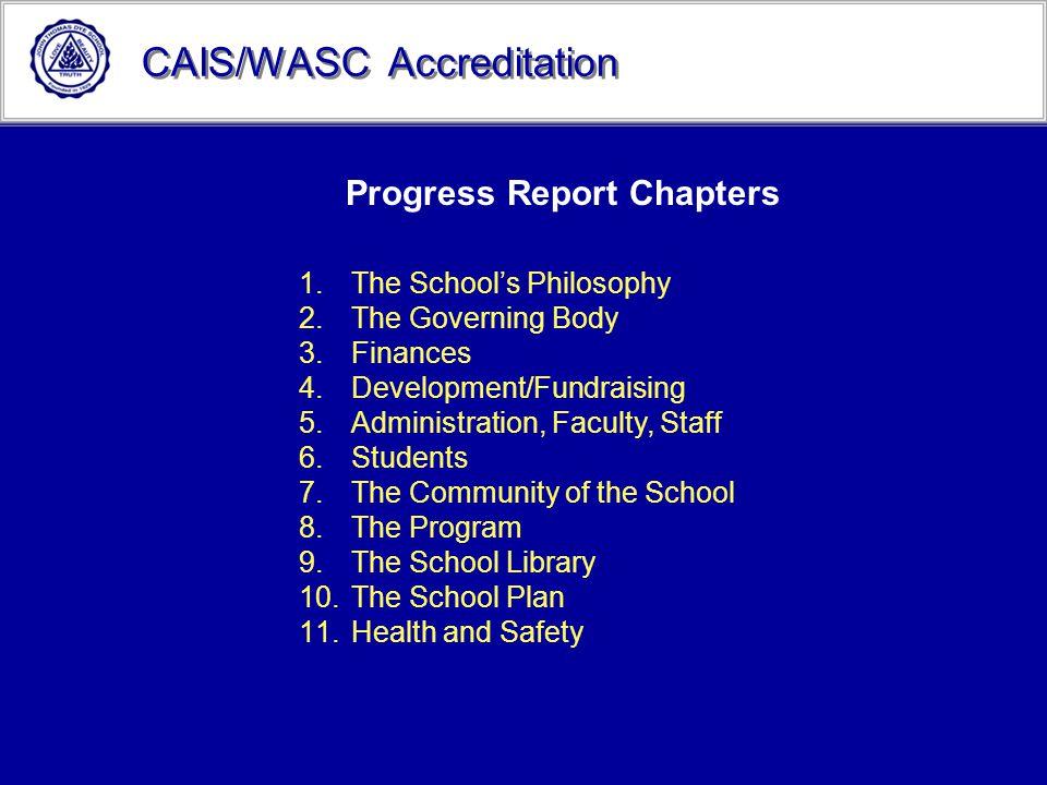 Progress Report Chapters