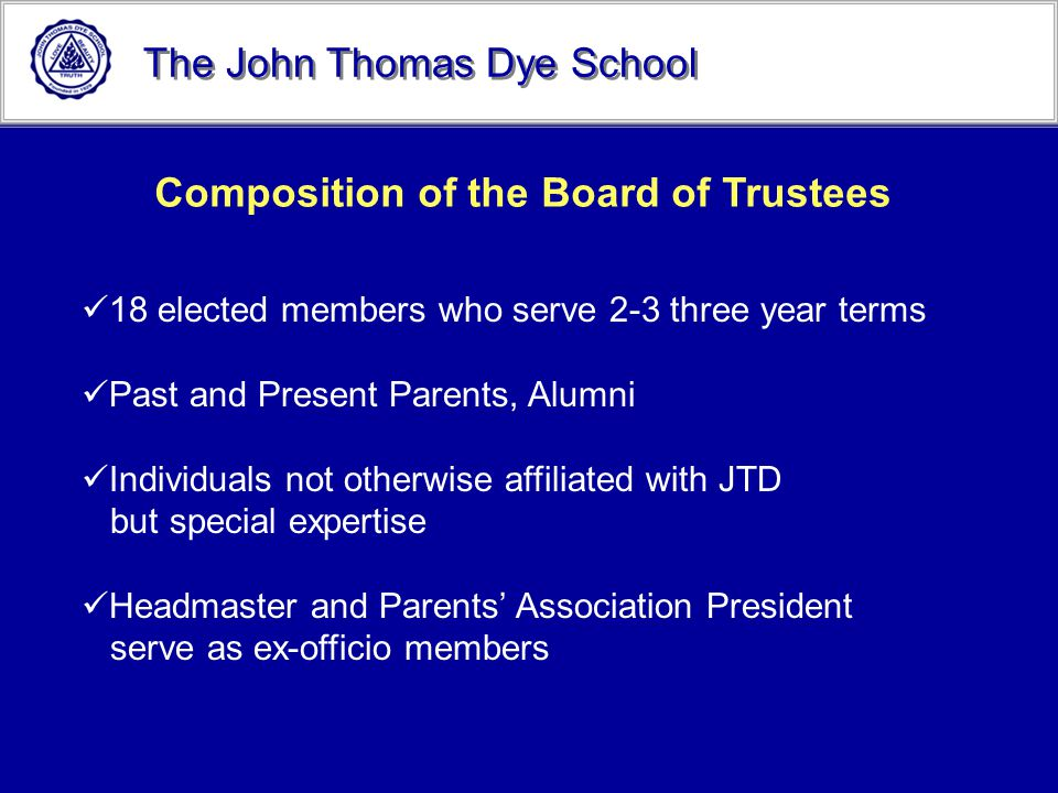 Composition of the Board of Trustees