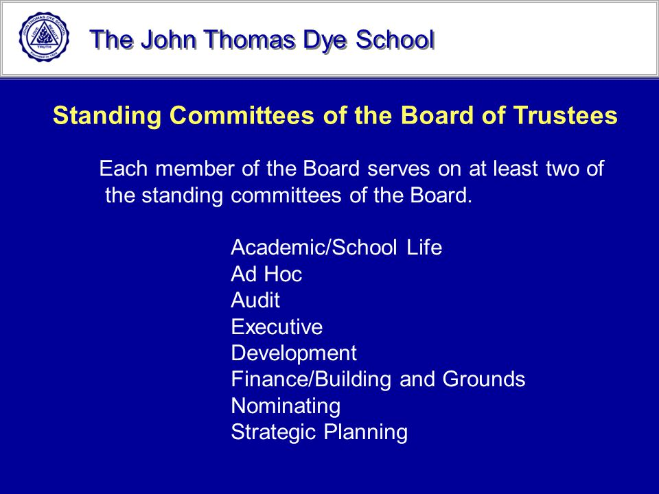 Standing Committees of the Board of Trustees