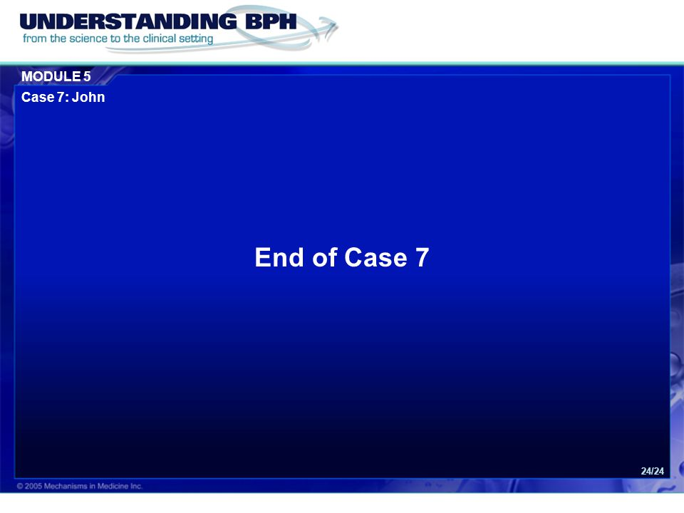End of Case 7