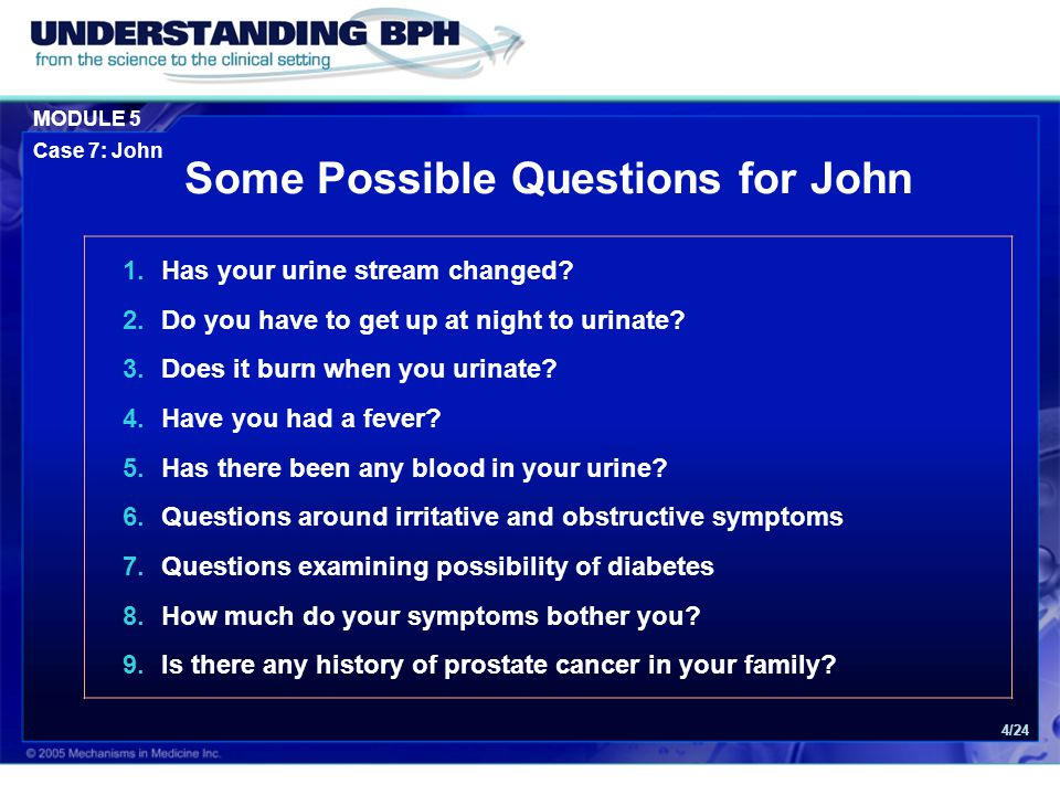 Some Possible Questions for John