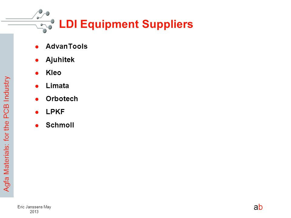 LDI Equipment Suppliers