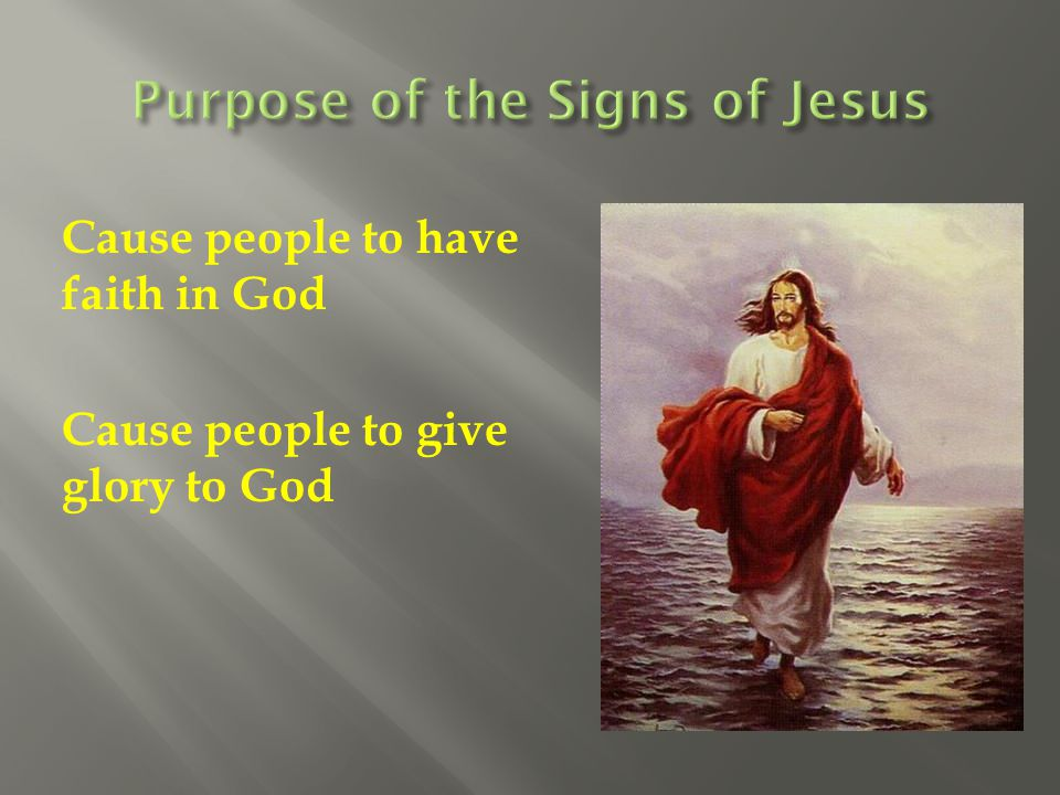 Purpose of the Signs of Jesus