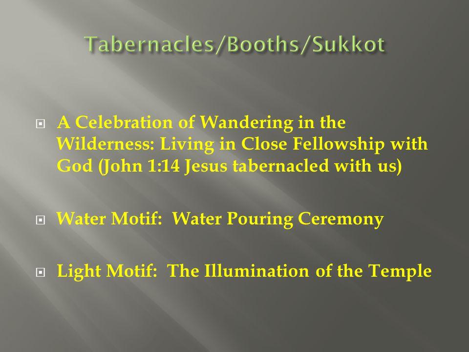 Tabernacles/Booths/Sukkot