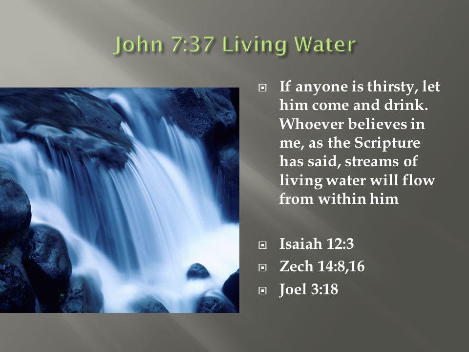 John 7:37 Living Water