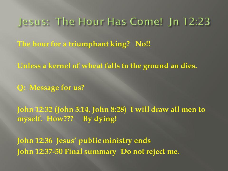 Jesus: The Hour Has Come! Jn 12:23