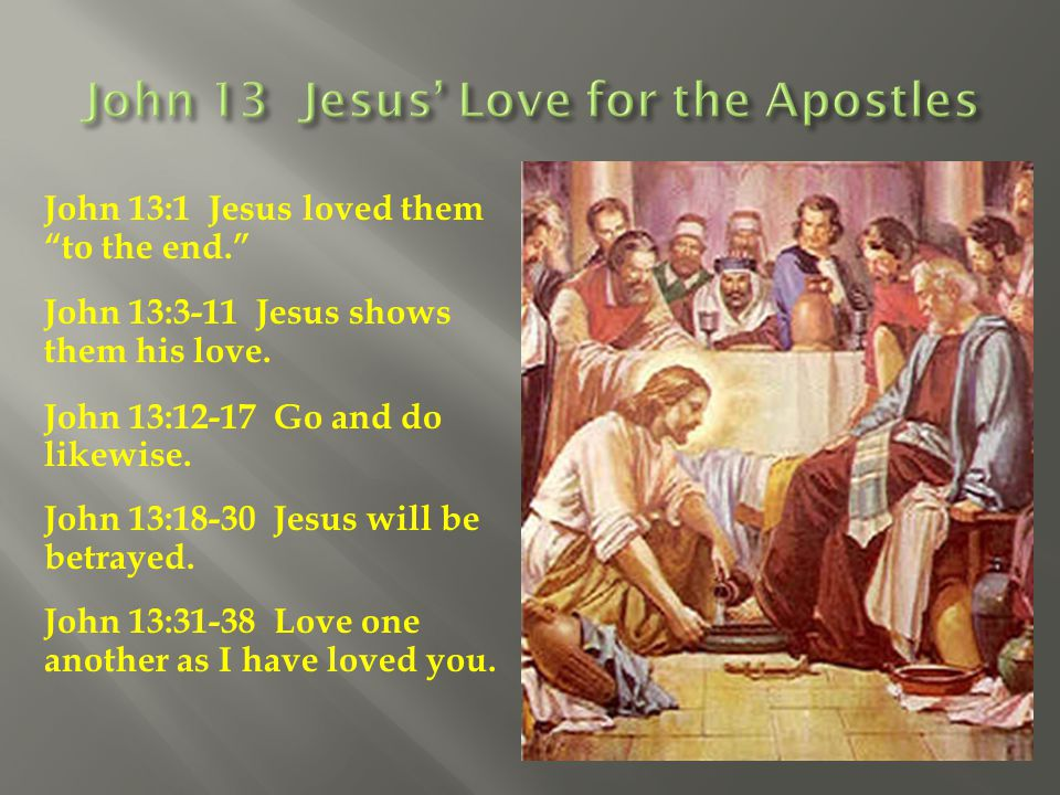 John 13 Jesus' Love for the Apostles