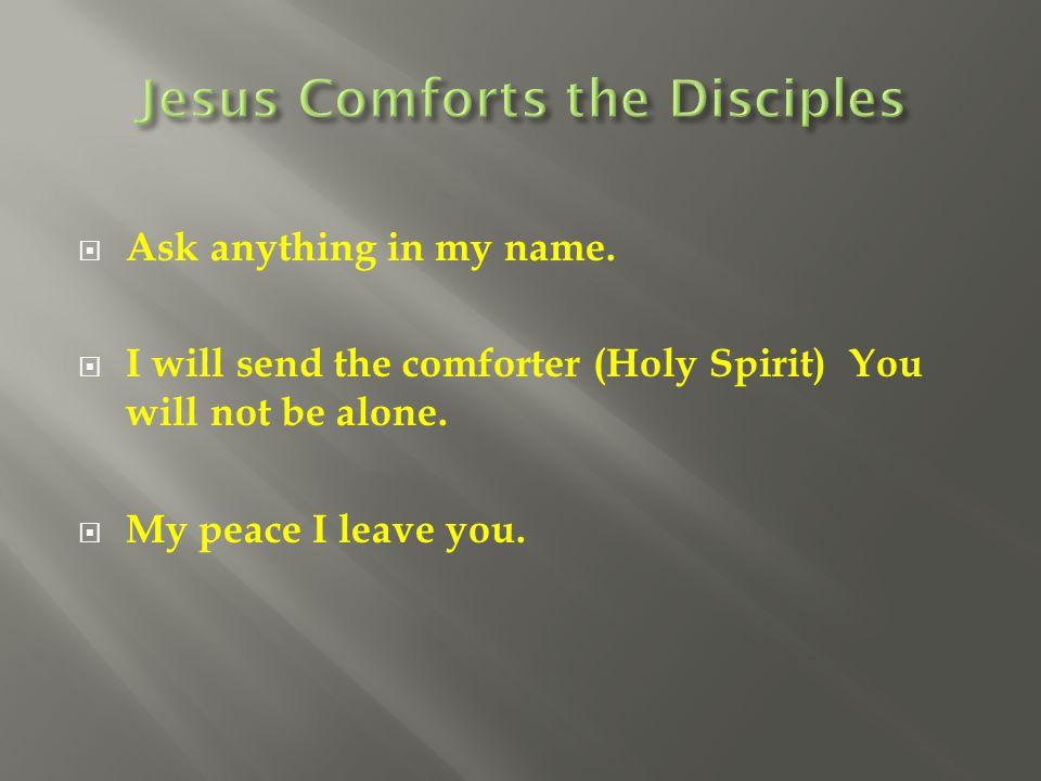 Jesus Comforts the Disciples
