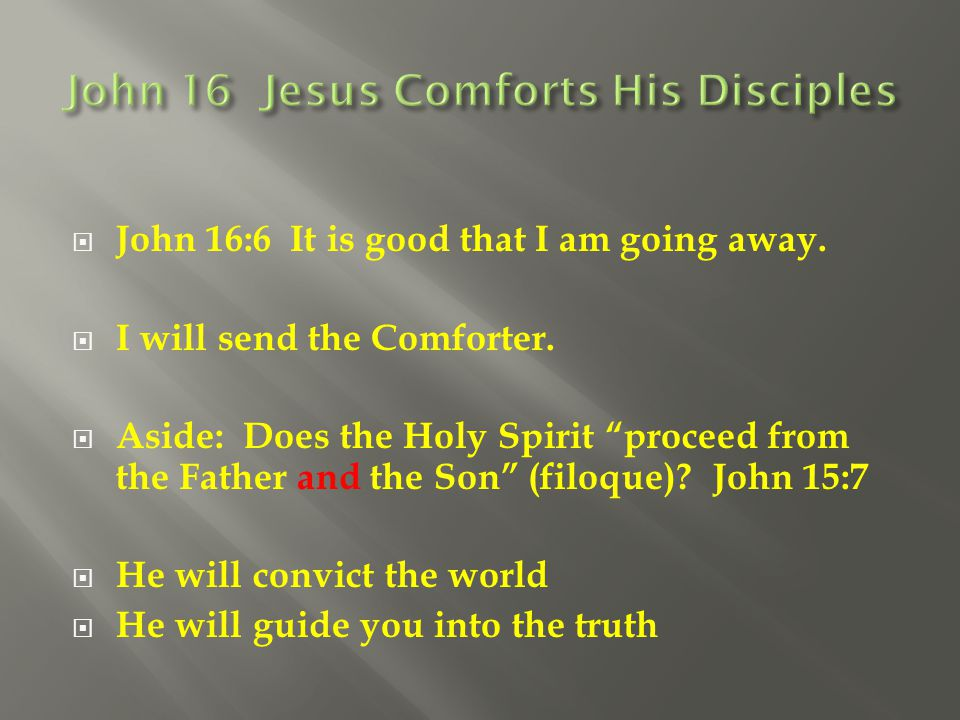 John 16 Jesus Comforts His Disciples