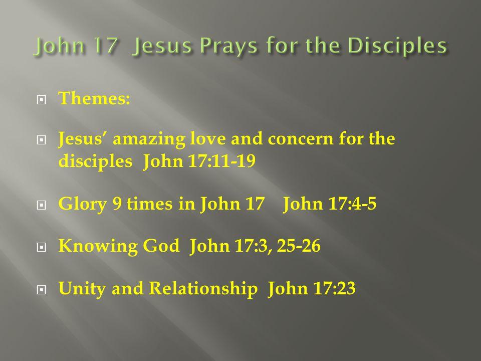 John 17 Jesus Prays for the Disciples