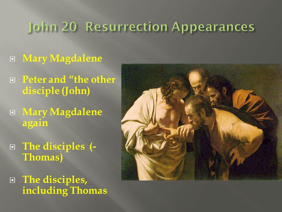 John 20 Resurrection Appearances
