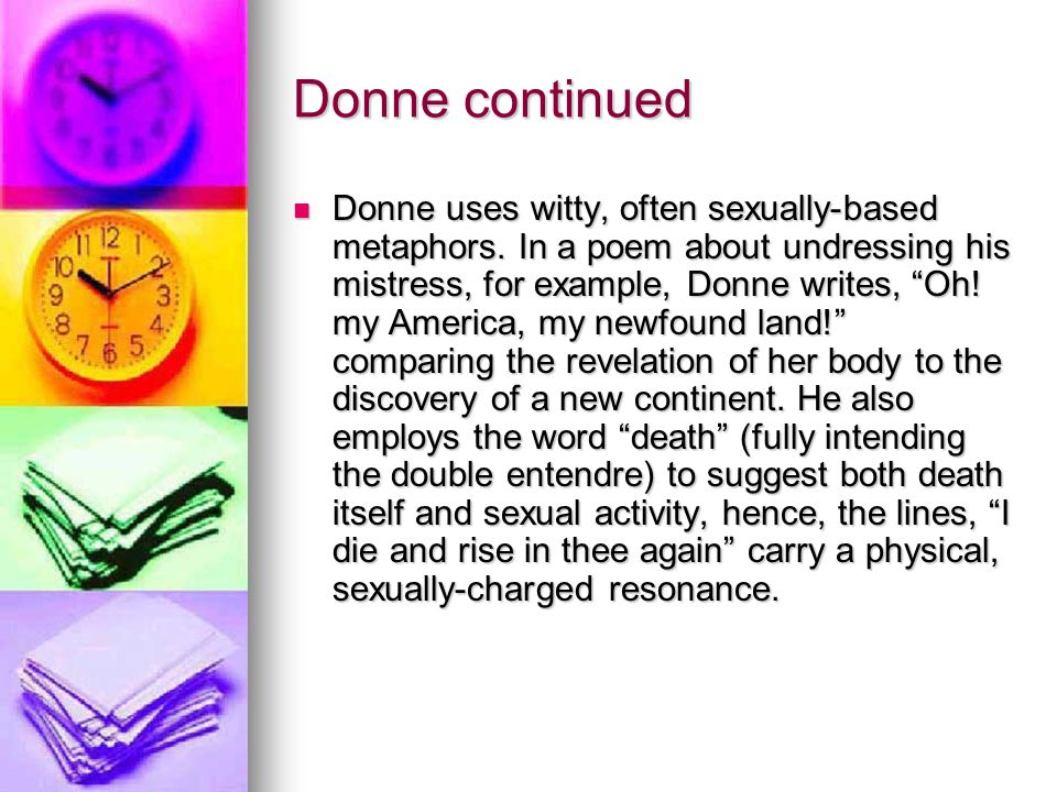 Donne continued