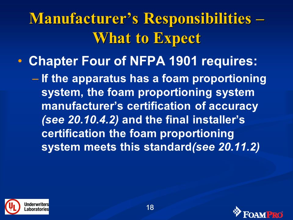 Manufacturer's Responsibilities – What to Expect