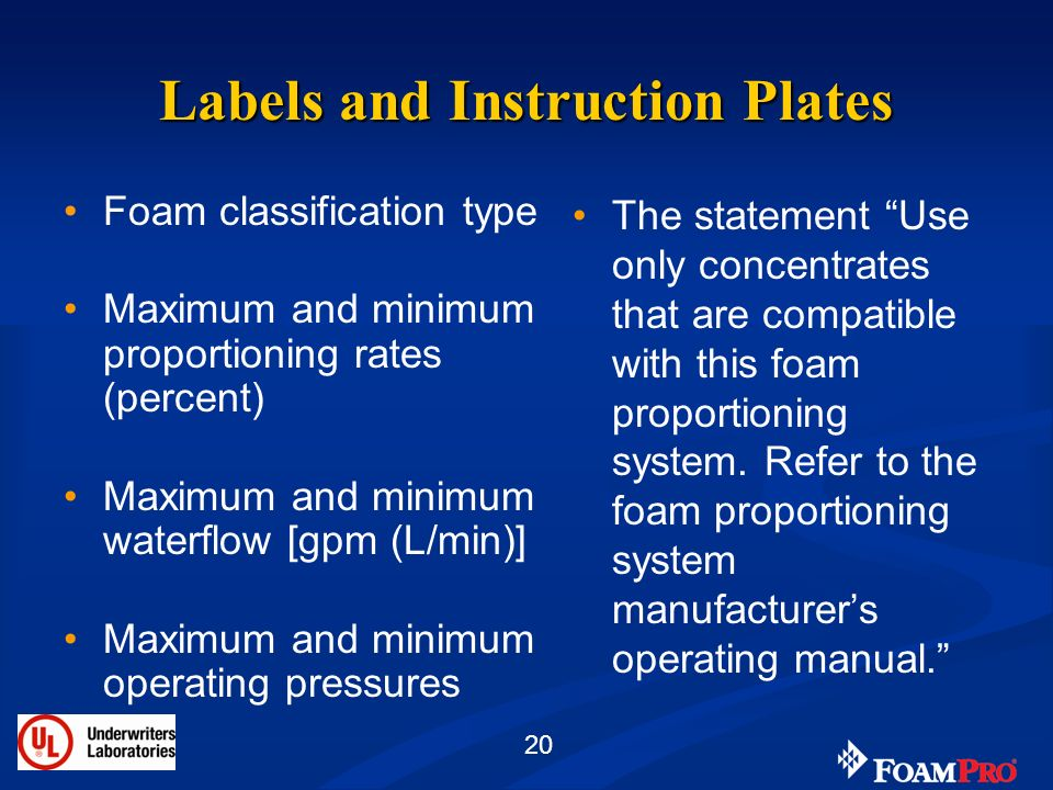 Labels and Instruction Plates