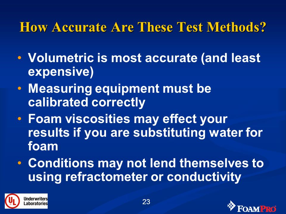 How Accurate Are These Test Methods