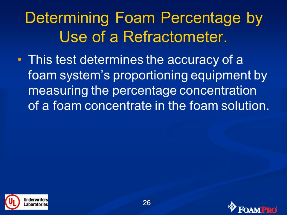 Determining Foam Percentage by Use of a Refractometer.