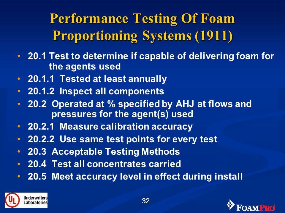 Performance Testing Of Foam Proportioning Systems (1911)
